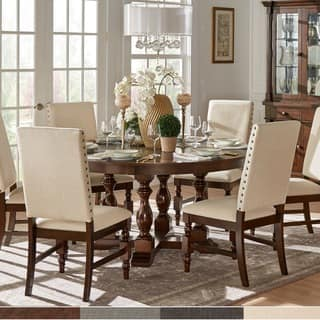 flatiron burnished oak finish dining set by inspire q classic - Shabby Chic Dining Table And Chairs