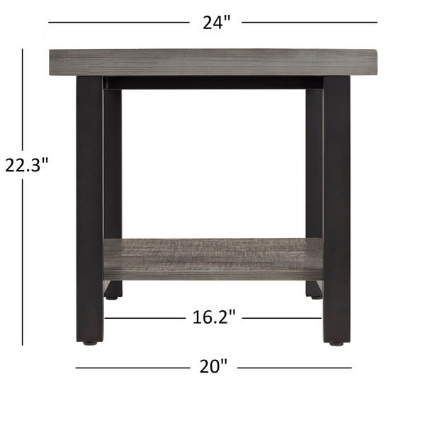 cyra industrial reclaimed accent end table by inspire q classic free shipping today
