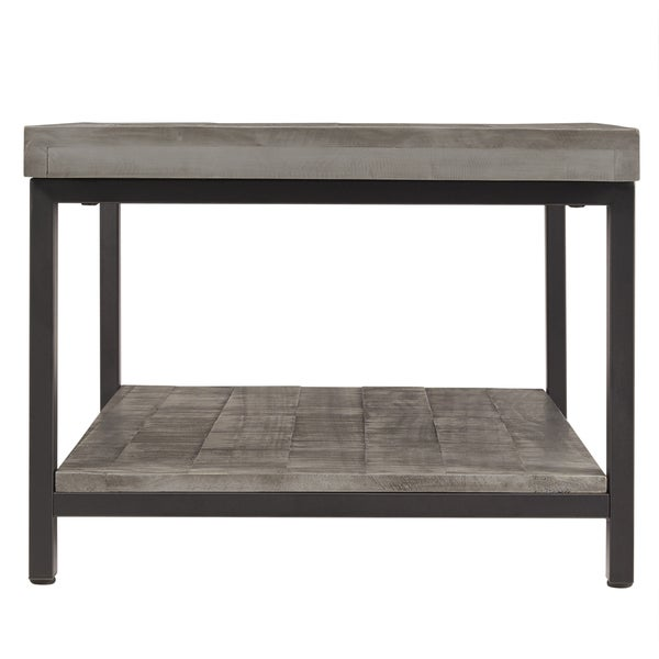 Cyra Industrial Reclaimed Rectangular Coffee Table By INSPIRE Q Classic    Free Shipping Today   Overstock.com   18170856