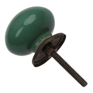 GlideRite 1.5-inch Round Ceramic Cabinet Knob Dark Green (Pack of 10 or 25)