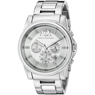 Armani Exchange Men's AX2505 'Outer Banks' Chronograph Crystal Stainless Steel Watch
