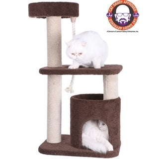 Armarkat Carpeted 37'' Cat Tree Scratching Post and Condo
