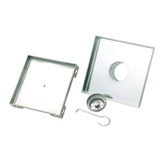 BOANN Contemporary/Modern Tile Insert Stainless Steel Square Shower Drain, 6 x 6 Inches