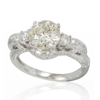 Suzy Levian Limited Edition 14K White Diamond French Filigree Pave Ring (5 options available)