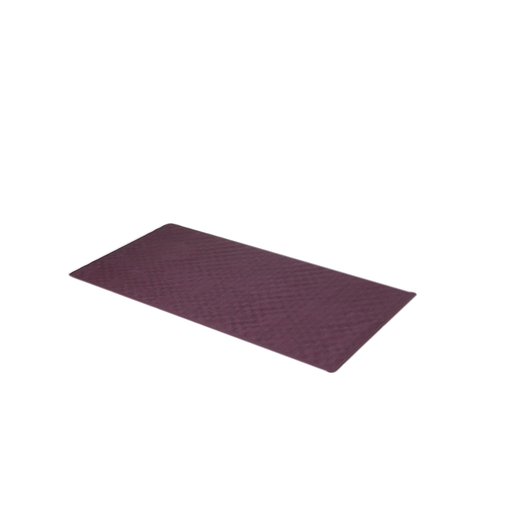Slip-Resistant Rubber Bath Tub Mat in Brown 13/'/' x 20/'/' Carnation Home Small