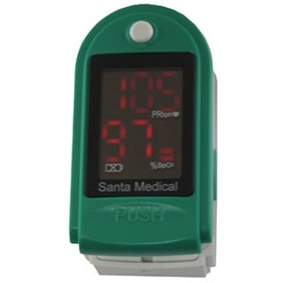 Santamedical SM-150 Generation 2 Fingertip Pulse Oximeter Oximetry Oxygen Saturation Monitor (Green)