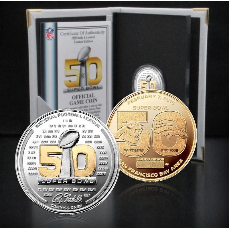 Highland Mint Super Bowl 50 Official Two-Tone Flip Coin (...
