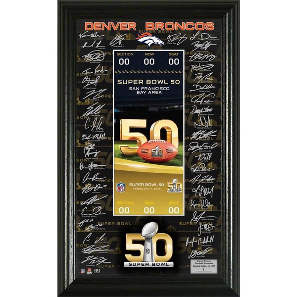 Super Bowl 50 Signature Ticket