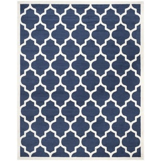 Safavieh Indoor/ Outdoor Amherst Navy/ Beige Rug - 11' x 15'