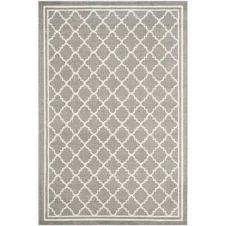 Safavieh Indoor/ Outdoor Amherst Dark Grey/ Beige Rug (12' x 18')