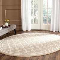 Safavieh Indoor/ Outdoor Amherst Wheat/ Beige Rug - 9' Round