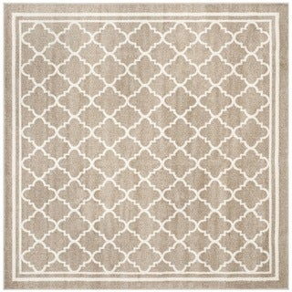 Safavieh Indoor/ Outdoor Amherst Wheat/ Beige Rug (9' x 9' Square)