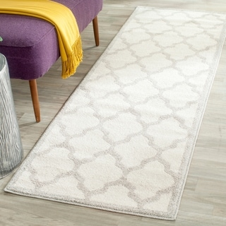 Safavieh Indoor/ Outdoor Amherst Beige/ Light Grey Rug (2' 3 x 13')