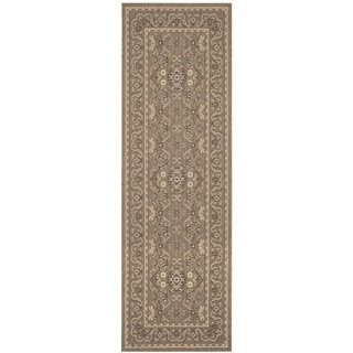 Safavieh Courtyard Charm Chocolate/ Cream Indoor/ Outdoor Rug (2'7 x 8'2)