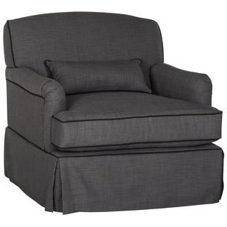 Safavieh Couture High Line Collection Montgomery Charcoal/ Black Chair