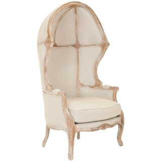 Safavieh Couture Collection Sabine Oak Natural Linen Chair