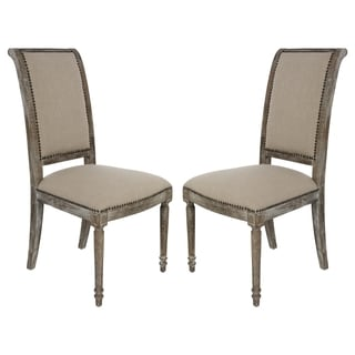 Safavieh Couture High Line Collection Vera Oak Natural Side Chairs (Set of 2)