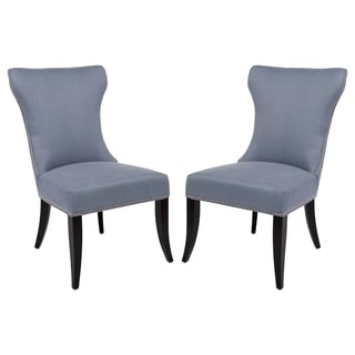 Safavieh Couture High Line Collection Halston Blue Side Chairs (Set of 2)