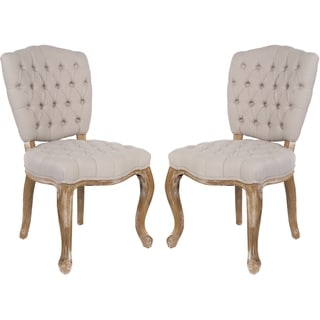 Safavieh Couture High Line Collection Sylvia Oak Light Taupe Side Chairs (Set of 2)