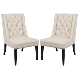 Safavieh Couture High Line Collection Jada Ivory Side Chairs (Set of 2)