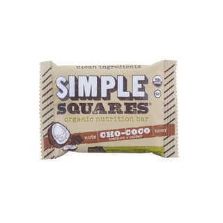 Simple Squares Organic Cho Coco Nutrition Bars (Pack of 12)
