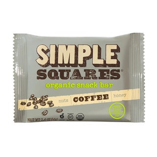 Simple Squares Organic Coffee Nutrition Bars (Pack of 12)