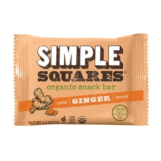 Simple Squares Organic Ginger Nutrition Bars (Pack of 12)