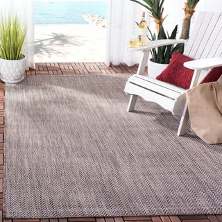 Safavieh Indoor/ Outdoor Courtyard Brown/ Beige Rug (4' x 5' 7)
