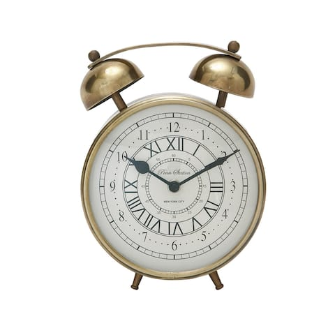 The Gray Barn Crow Haven Gold Metal Table Clock