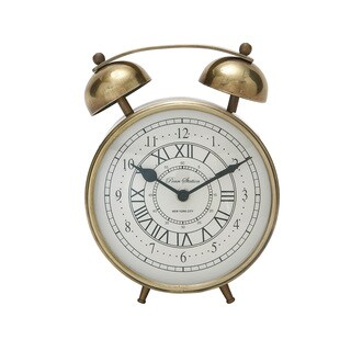 Copper Grove Chatfield Gold Metal Table Clock