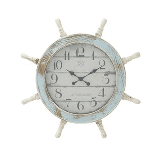 Nautical Wood Anchor Wall Clock