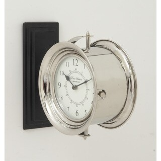 Stainless Steel Wood Double Wall Clock