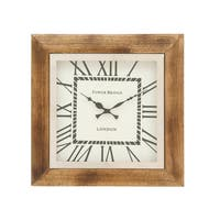 Stainless Steel Wood Wall Clock