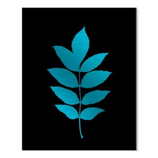 Gallery Direct Planted Pigment, on Black IV Print by New Era Original on Mounted Metal Wall Art