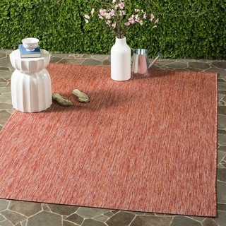 Safavieh Indoor/ Outdoor Courtyard Red/ Red Rug (4' x 5' 7)