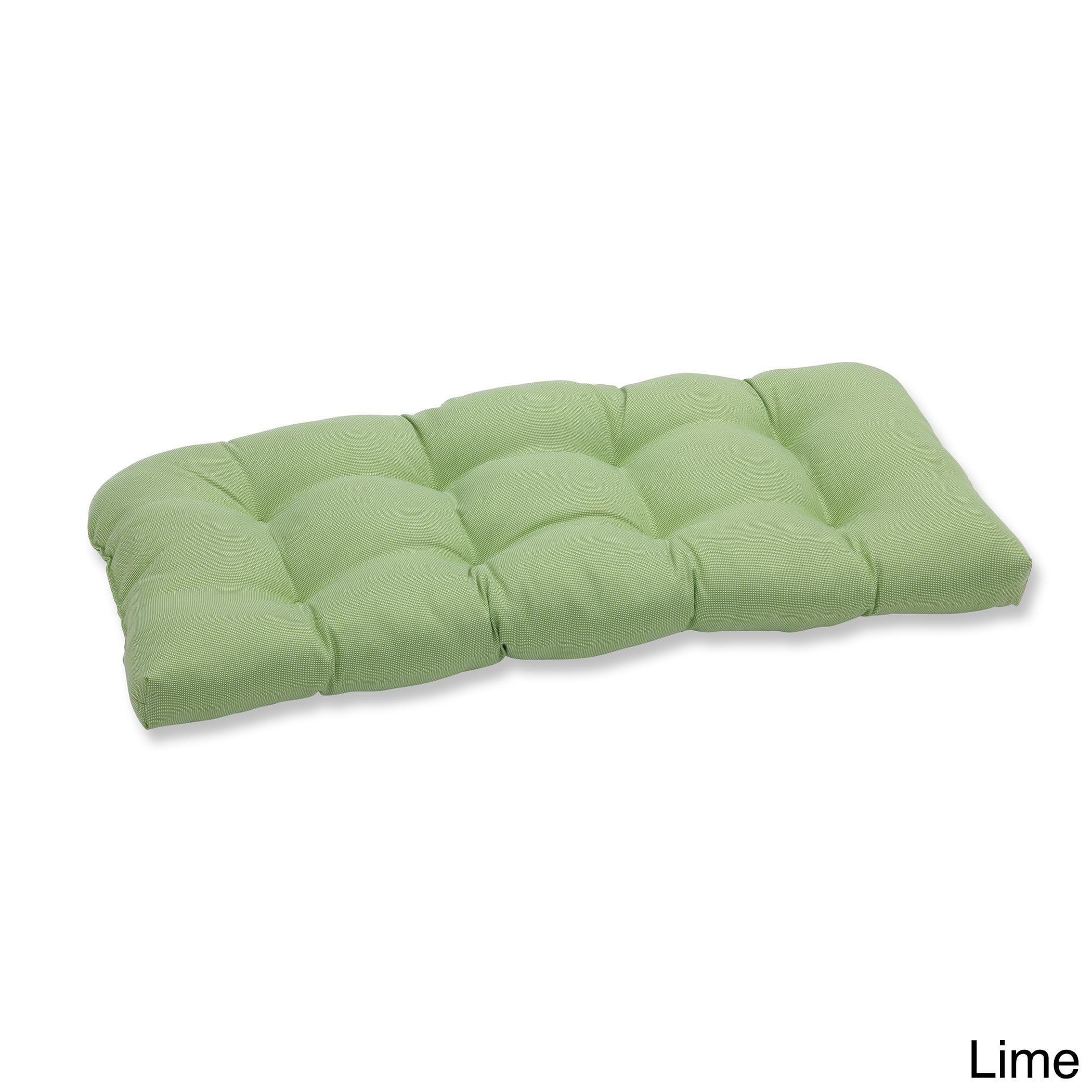 Pillow Indoor outdoor Tweed Lime Wicker Loveseat Cushion