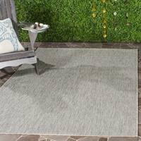 Safavieh Indoor/ Outdoor Courtyard Grey/ Grey Rug - 4' x 5' 7