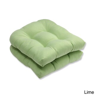 Pillow Perfect Outdoor/ Indoor Tweed Wicker Seat Cushion (Set of 2)