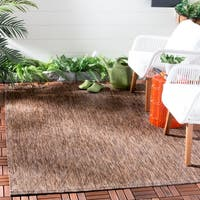 Safavieh Indoor/ Outdoor Courtyard Brown/ Brown Rug - 4' x 5' 7
