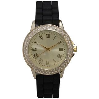 Olivia Pratt Classic Inspired Rhinestone Silicone Watch