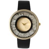Olivia Pratt Modern Elegance Rhinestone Watch