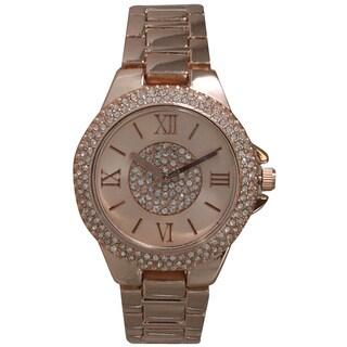 Olivia Pratt Rhinestone Elegance Bracelet Watch