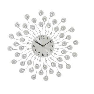 Carson Carrington Alavus Silver Acrylic Metal 19-inch Wall Clock