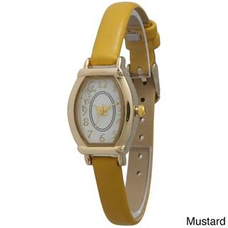 Olivia Pratt Elegant Leather Petite Star Watch
