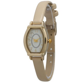 Olivia Pratt Elegant Leather Petite Star Watch