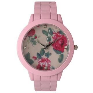 Olivia Pratt Ceramic Floral Cuff Bracelet Watch (2 options available)