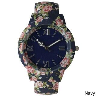 Olivia Pratt Vintage Flowers and Peace Cuff Watch