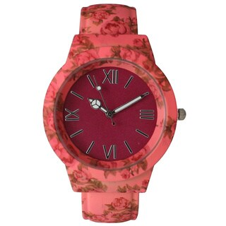 Olivia Pratt Vintage Flowers and Peace Cuff Watch (More options available)