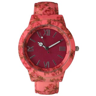 Olivia Pratt Vintage Flowers and Peace Cuff Watch