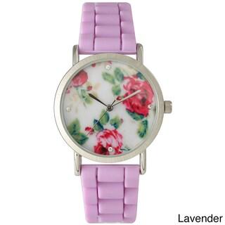 Olivia Pratt Cute Silicone Flower Watch (Option: Lavender)